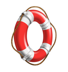 Red and white flotation ring ship device vector