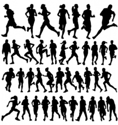Runner people vector