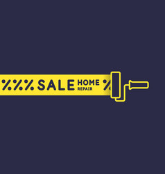 sale banner hand tool for home renovation and vector image