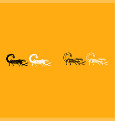 scorpion it is white icon vector image