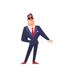 self confident businessman in sunglasses vector image