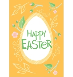 Set of Brochure Flyer Layout Easter vector image vector image
