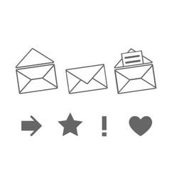 Set of icons for messages vector image