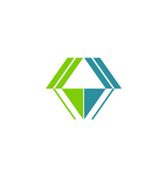 shape architecture geometry logo vector image