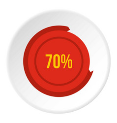 Sign 70 load icon circle vector
