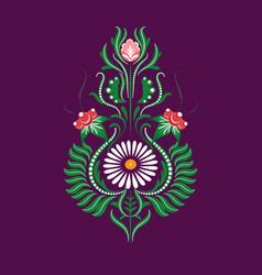 Slavic folk traditional floral ornament vector