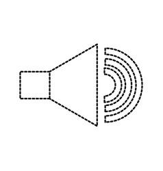 speaker audio sound volume button icon vector image