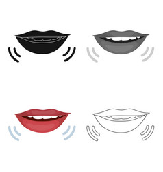 speaking mouth icon in cartoon style isolated on vector image