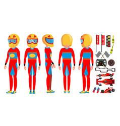 sport car racer male modern driver vector image