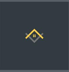 the house upside down symbol design vector image