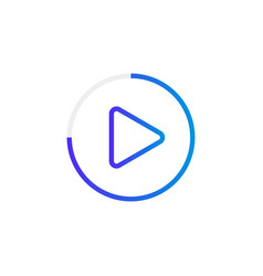 video play button like simple replay icon vector image