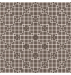 White Line Squares Seamless Pattern on dark vector image