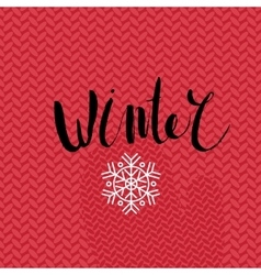 Winter lettering vector image