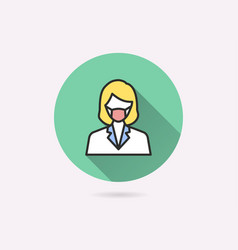 woman face with mask icon for graphic and web vector image