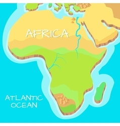 Africa isometric map with natural attractions vector