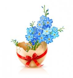 egg shell vector image