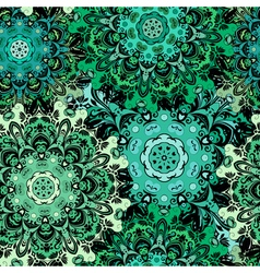 Oriental seamless pattern with eastern floral vector image