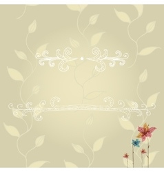 template of greeting card with lace frame vector image vector image