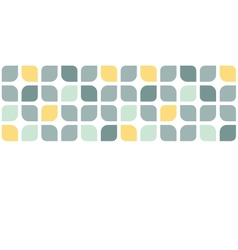 Abstract gray yellow rounded squares horizontal vector image