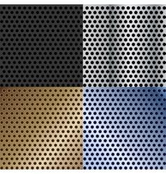 abstract metallic textures set vector image