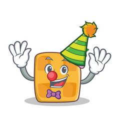 clown waffle character cartoon design vector image