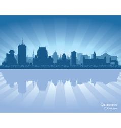 Quebec Canada skyline vector image vector image