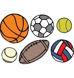 Set of different sport balls vector image