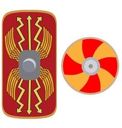 Viking and roman shield vector image
