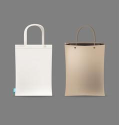 Empty shopping bag couple vector