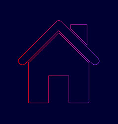 home silhouette line icon vector image