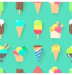 Ice cream collection seamless pattern vector image vector image