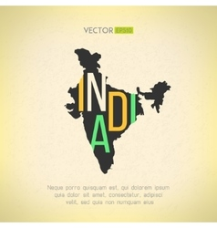 India map in vintage design Indian border vector image vector image