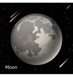 Moon planet 3d vector image