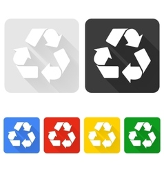 Recycle Symbol with Shadow vector image