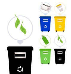 Separate Garbage collection isolated on white vector image