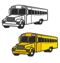 set of school buses icons isolated on white vector image vector image