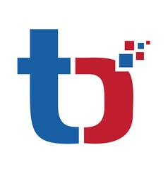 tb t b business letter logo design vector image vector image