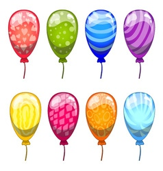 ute cartoon balloons set vector image