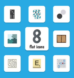 flat icon games set of dice bones game vector image vector image