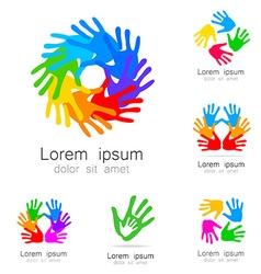hand logo vector image