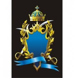 heraldry badge vector image