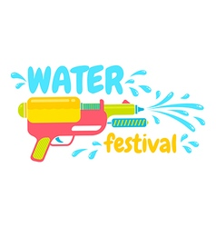 water festival vector image