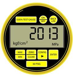 2013 New Year digital gas manometer vector