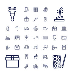 37 package icons vector