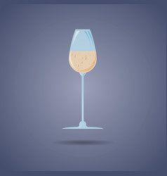 a glass of champagne icon abstract concept vector image
