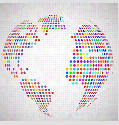 abstract globe earth from colorful dots vector image