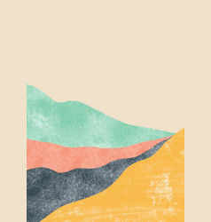 Abstract mountain landscape japanese style vector