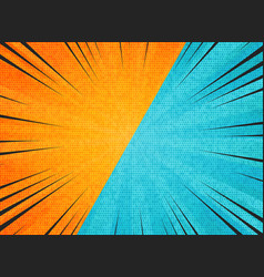 abstract sun burst contrast orange blue colors vector image