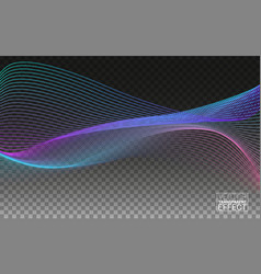 beautiful wave shaped array glowing dots vector image