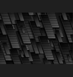 black technology geometrical abstract background vector image